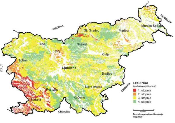 Požarna ogroženost v Sloveniji